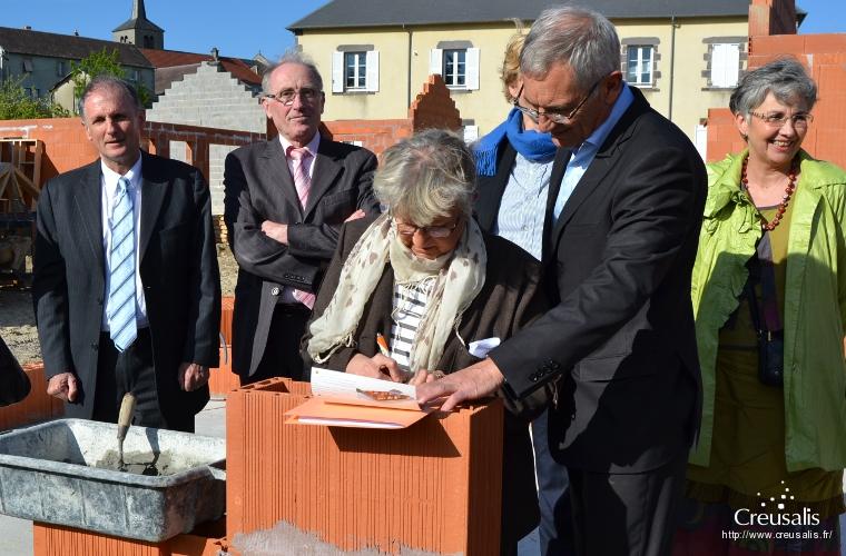 Creusalis - 3 Juin 2013 - Pose de la première pierre à Mérinchal