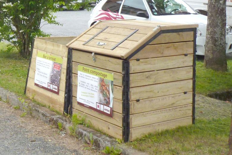 Les composteurs collectifs (Le Puycharraud, La Souterraine)